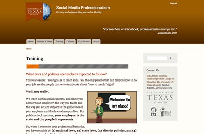 Social Media Professionalism Training Site