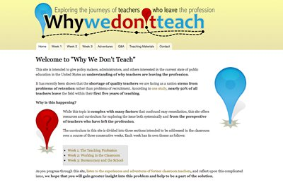 Why We Don't Teach